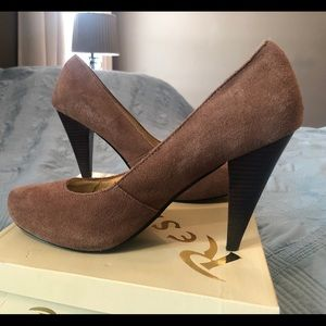 Restricted Women's Tan Suede Heels Size 10